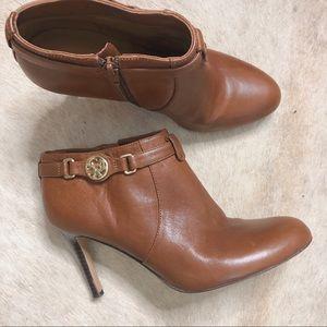 Coach Salene Caramel Leather Ankle Boot 8